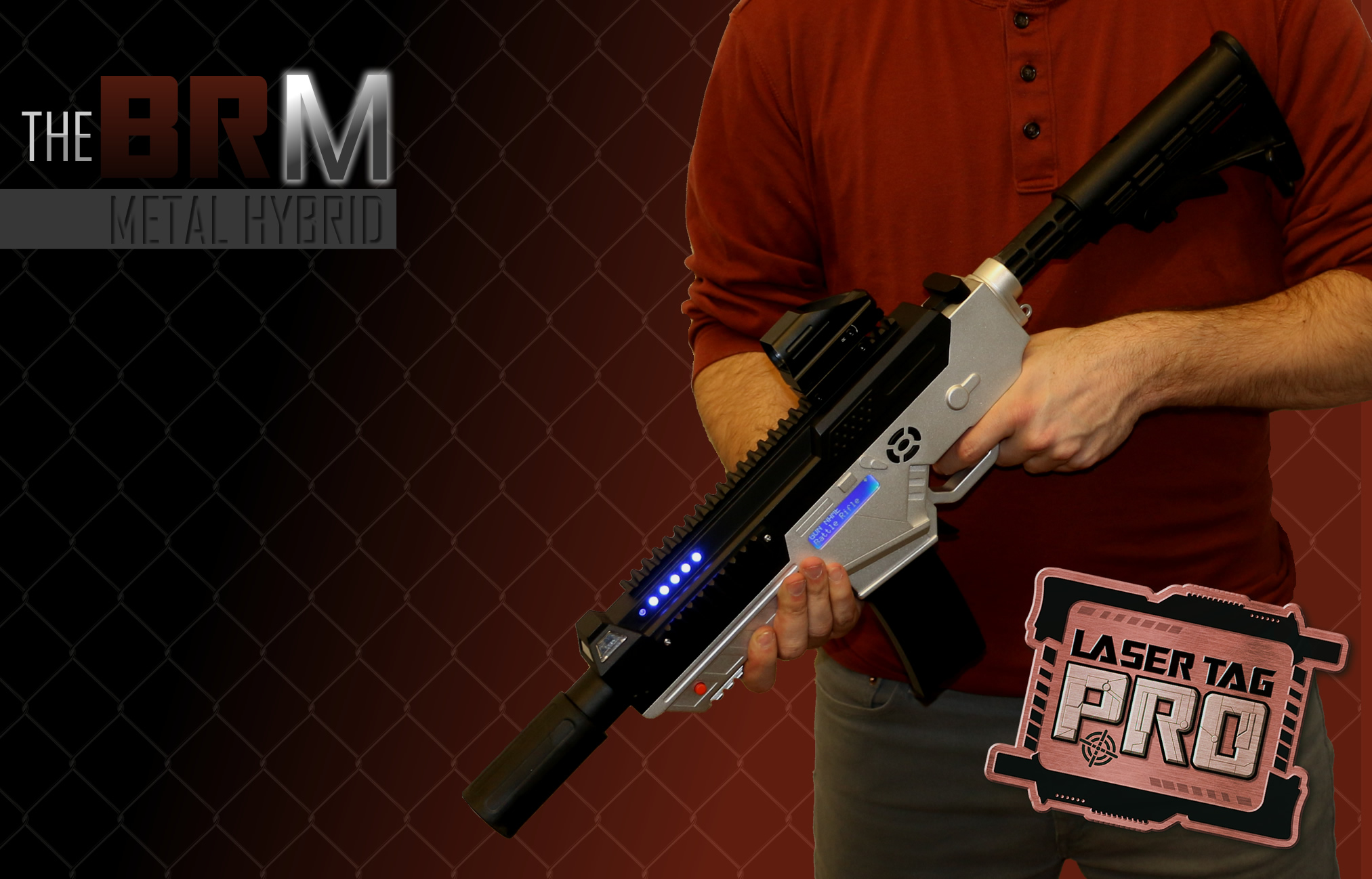 Brm Metal Hybrid Laser Tag Gun Laser Tag Pro Indoor
